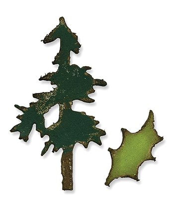 Tim Holtz Mini Pine Tree & Holly Movers & Shapers Magnetic Die