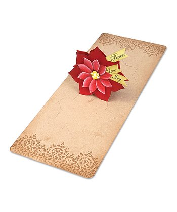 Karen Burniston 3-D Poinsettia Pop 'n' Cuts Magnetic Insert Die
