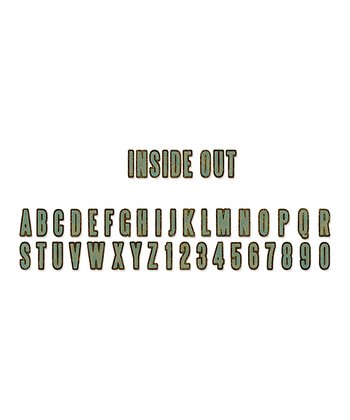 Tim Holtz Inside Out Alphabet Sizzlits Decorative Strip Die Set