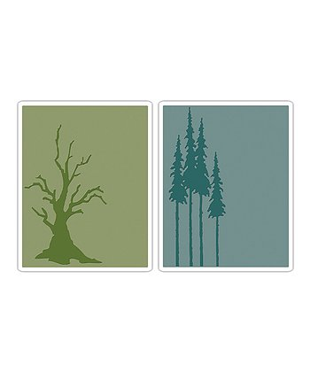 Tim Holtz Branch & Pines Texture Fades Embossing Set