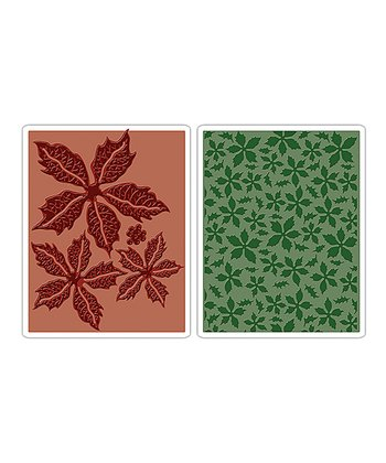 Tim Holtz Poinsettia Pattern Texture Fades Embossing Set
