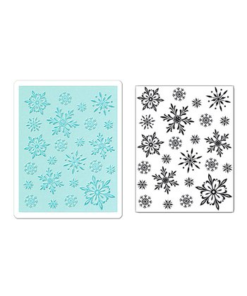 Hero Arts Snowflake Textured Impressions Embossing & Stamp Set