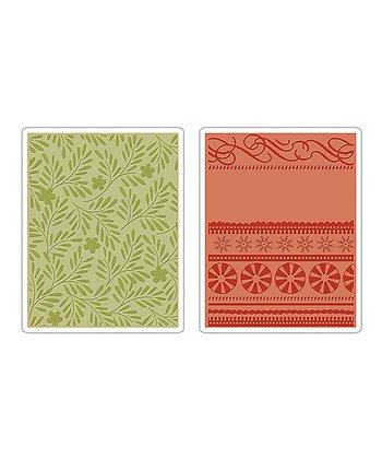 BasicGrey Branches & Ribbons Textured Impressions Embossing Set
