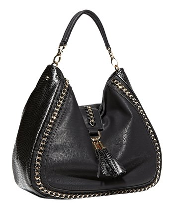 Black Chain Tassel Hobo