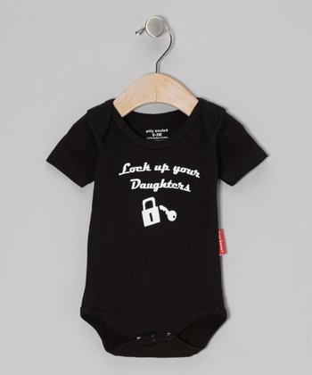 Silly Souls Black 'Lock Up Your Daughters' Bodysuit - Infant