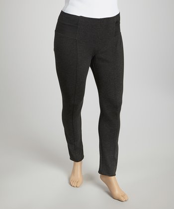 Charcoal Gray Skinny Pants - Plus
