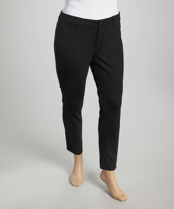 Black Ponte Arches Pants - Plus