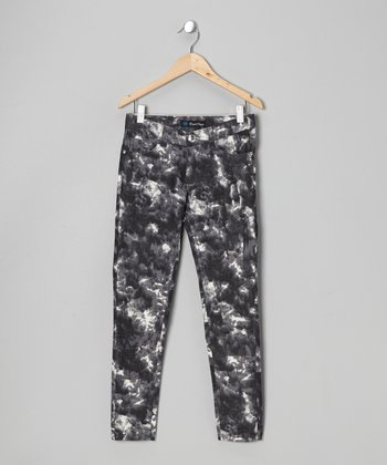 Crystal Vogue Gray Mottled Twill Jeans - Toddler
