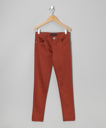 Chestnut Twill Jeans - Toddler & Girls