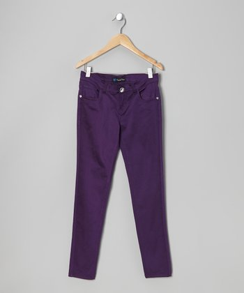 Purple Twill Jeans - Toddler & Girls