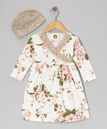 White Bridge Hampton Dress & Beanie - Infant