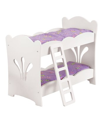 White & Purple Doll Bunk Bed