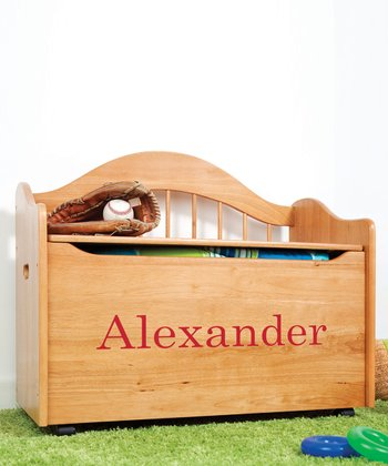 Natural Personalized Toy Box