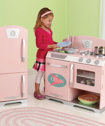 Pink Personalized Retro Stove & Fridge