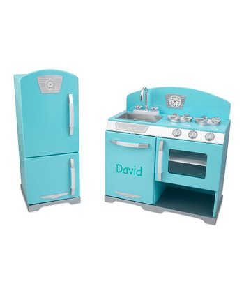 Blue Personalized Retro Stove & Fridge