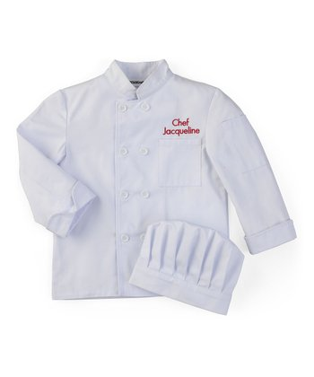 Medium Personalized Chef's Jacket & Hat