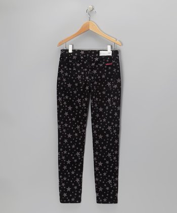 Black Star Corduroy Pants - Girls