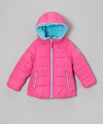 Pink Glow Protection System Puffer Jacket - Girls