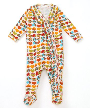 Hippie Hearts Organic Footie - Infant