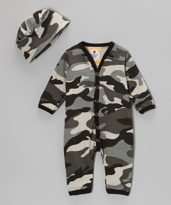 South Side Camo Organic Playsuit & Beanie - Infant