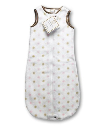Pink & Gold Polka Dot Fuzzy zzZipMe Sleeping Sack
