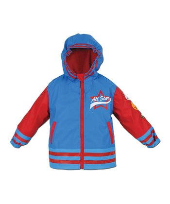 Blue & Red 'All Star' Raincoat - Toddler & Kids
