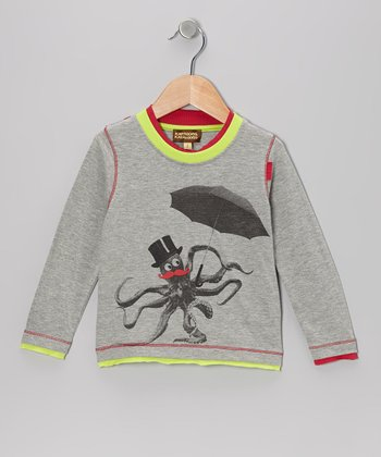 Medium Gray Octopus Tee - Infant, Toddler & Boys