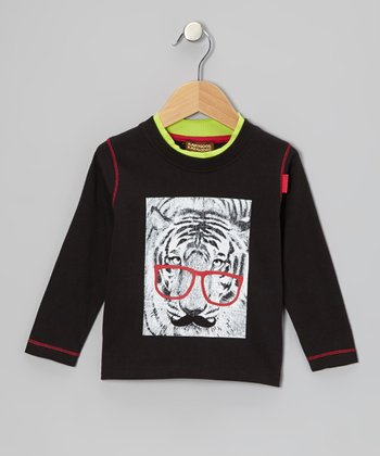 Black Tiger Glasses Tee - Infant, Toddler & Boys
