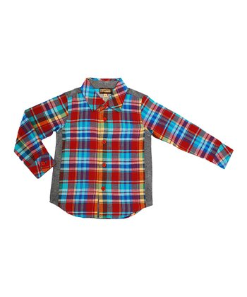 Red Plaid Button-Up - Infant, Toddler & Boys