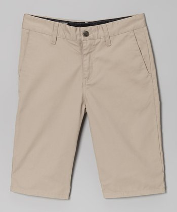 Sand Modern Chino Shorts - Boys