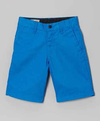 Blue Friendly Chino Shorts - Boys
