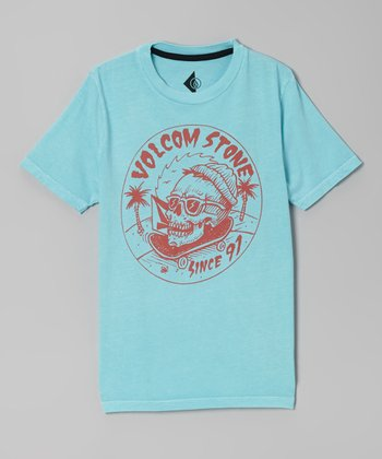 Blue & Orange 'Volcom Stone Since 91' Tee - Boys