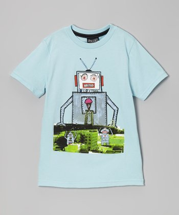 Light Blue Kid Creature Tee - Toddler & Boys