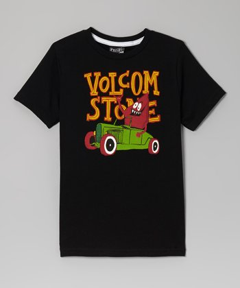 Black & Yellow 'Volcom Stone' Coupe Tee - Boys
