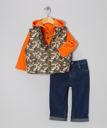 Green Camo Vest Set - Infant & Toddler