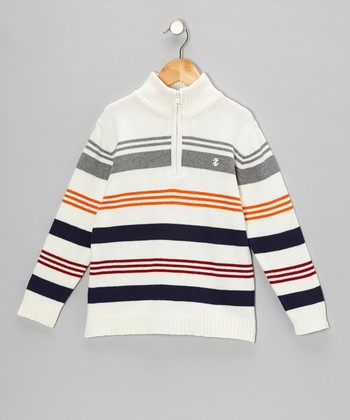 Cream Stripe Pullover - Toddler & Boys