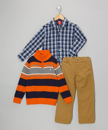 Tangelo Stripe Pullover Set - Boys