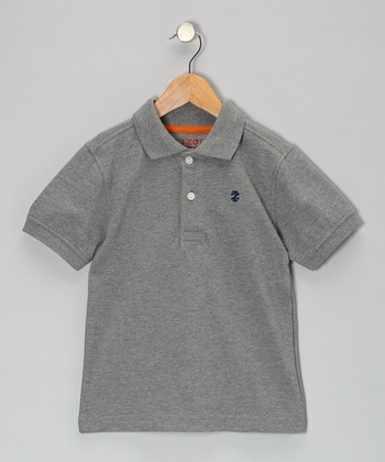 Gray Piqué Polo - Toddler & Boys