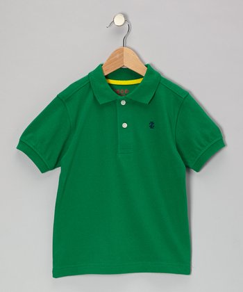 Green Piqué Polo - Boys