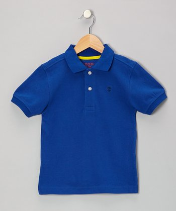 Blue Piqué Polo - Boys