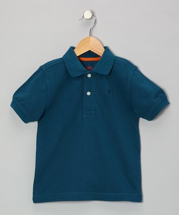 Teal Piqué Polo - Boys
