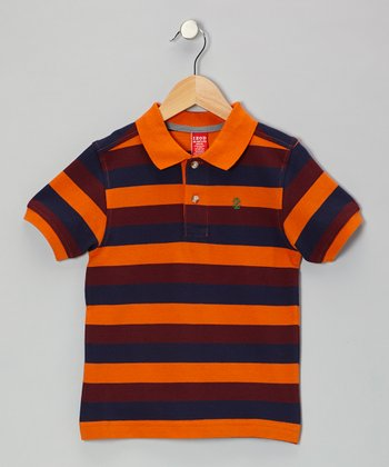 Tangelo Stripe Piqué Polo - Boys