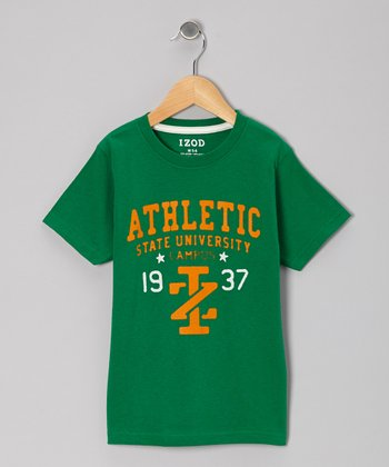 Green 'Athletic' Tee - Boys