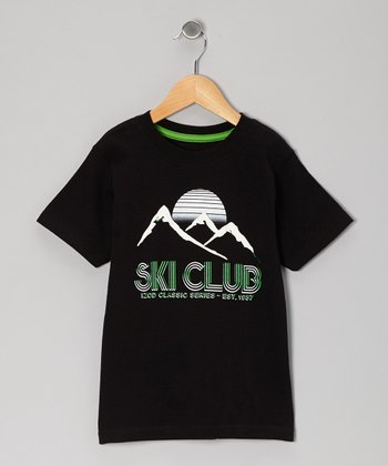 Deep Black 'Ski Club' Tee - Boys