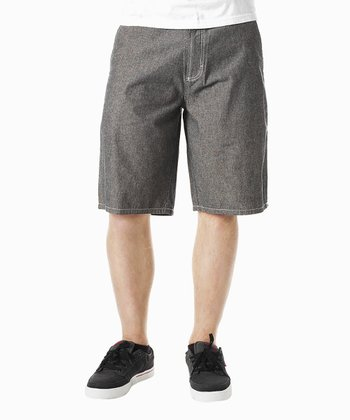Black Griddy Shorts - Boys