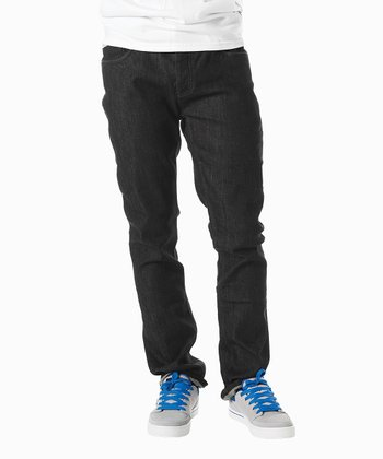 Black Slim-Fit Denim Jeans - Boys