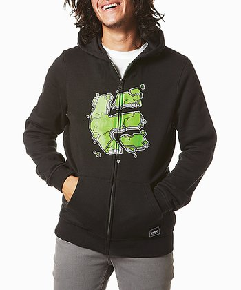 Black Rockfield Fleece Zip-Up Hoodie - Boys