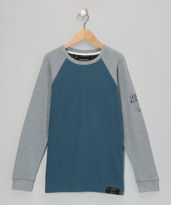 Star Gazer & Gray Raglan Thermal - Toddler