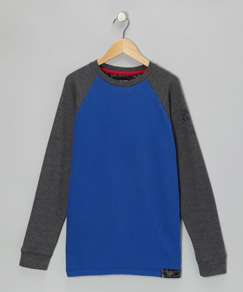 Ocean & Gray Raglan Thermal - Boys