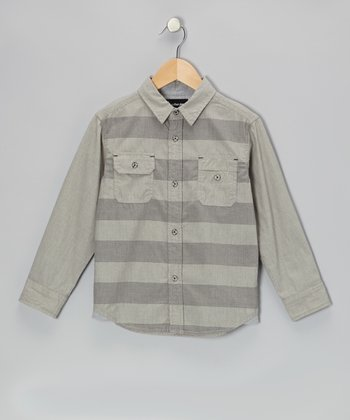 Chrome Stripe Button-Up - Infant & Toddler